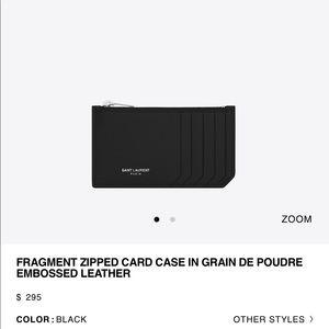 Saint Laurent Fragments Cardholder Black $295